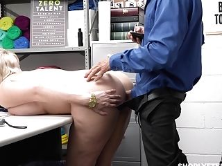 Supah Sexy Chubby Woman Gets Disciplined For Shoplifting
