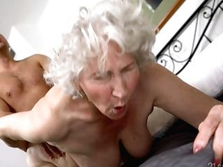 Senile Granny With Big Baps Norma B Gets Intimate With Youthfull Man