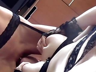 Huge-chested Sandy-haired In Erotic Undergarments Is Having A Girl-on-girl Session With A Smoking Hot Woman