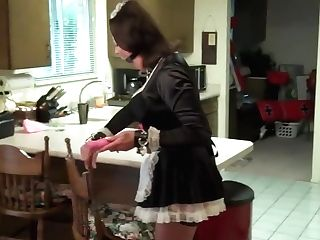 Sexy French Maid In Self Tying